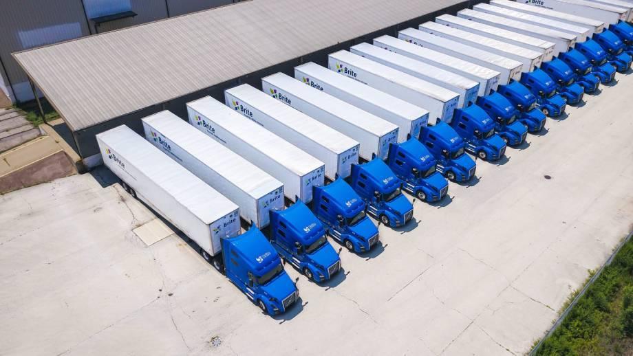 Volvo VNL Brite Logistics trucks ready for OTR trucking